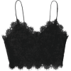 Cami Scalloped Lace Tank Top - Black - Koszulki bez rękawów -