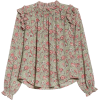 Camila Floral Shirred Top LA VIE REBECCA - Long sleeves shirts -