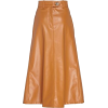Carmel Colored Faux Leather Skirt - Other -