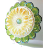 Carnival Glass Egg Plate Yard Decoration - Resto - $160.00  ~ 137.42€