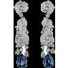 Cartier Diamond Sapphire - Earrings -