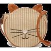 Cat Face Straw Crossbody Bag - Kleine Taschen -