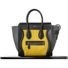 Celine-Micro-Luggage-Tote-Yellow-Felt-25 - Hand bag -