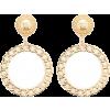 Chain Hoop Drop Earrings - Brincos -