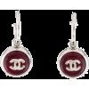 Chanel Silver Tone Resin Hoop Earrings - イヤリング -