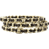 Chanel Bracelets Black - Bracelets -
