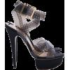 Charlotte Olympia Black film sandals - Platforms -