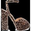 Charlotte Olympia Leopard Print Sandal - Sandale -