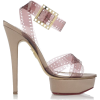 Charlotte Olympia pink film sandals - Platforms -