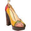 Charlotte Platform Fruit Shoes - Platforms -