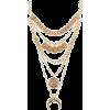 Charlotte Russe Gold Horn & Coin Layered - Halsketten -