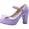 Charm Foot Lavender Lolita Heels - Classic shoes & Pumps -
