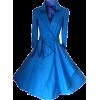 Chartreuse Wrap Style Retro Midi Dress - Kleider - $18.99  ~ 16.31€