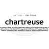 Chartreuse definition text - イラスト用文字 -