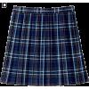Check Pleated Skirt - Spudnice -