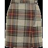 Check A-Line Skirt - Skirts -