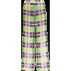 Check Sequin Embellished Trousers - Pantaloni capri -