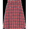Checked Tweed Miniskirt - Gucci - Skirts -