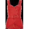 Cherry plain button top - Vests -