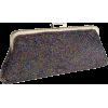 Chic Metallic Swirled Pattern Hand Beaded Rhinestones Closure Framed Evening Bag Clutch Purse Handbag with 2 Detachable Shoulder Chains Purple - Borse con fibbia - $31.50  ~ 27.05€