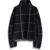 Chicwish Grid Turtleneck Sweater - プルオーバー -