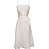 Chiffon Satin Dress Prom Formal Bridesmaid Holiday Party Cocktail Ivory - Dresses - $59.99