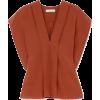 Chloé - Draped silk blouse - 半袖シャツ・ブラウス -