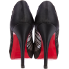 Christian Louboutin Black Satin Chiffon - Klasični čevlji -