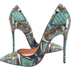 Christian Louboutin Nib Python Inferno S - scarpe di baletto -