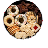 Christmas. Brown. Cookies - Comida -