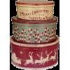 Christmas storage boxes (vintage) - Przedmioty -