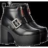 Chunky Buckle Platform Boots - Stivali -