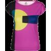 Chunky Geometric Print Fitted Tee - T-shirts - $46.00