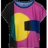 Chunky Geometric Print Loose Fit Tee - T-shirts - $46.00