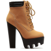 Chunky Sole Camel Hiker Bootie - Boots - $52.99