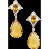 Citrine, Diamond Gold Earrings, Piranesi - Orecchine -