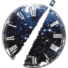 Clock and star illustration - Illustrations -