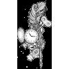 Clock/gears/quill illustration - Illustrations -