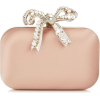 Cloud Ballet Pink Satin Clutch Bag With - Borse con fibbia -