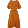 Co Pleated Broadcloth Midi Dress - Dresses -