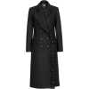 Coat with V Neckline & Mettalic Buttons - Jacket - coats -
