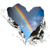 Coeur arc en ciel - Illustrations -