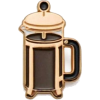 Coffee Press Enamel Pin (Rose Gold) - Beverage -
