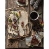 Coffee cake and flowers - Food -
