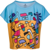 Colorful Abstract Print Boxy T-Shirt - T-shirts - $46.00