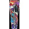 Colorful Music Print Leggings - Leggins -