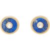 Compass diamond, lapis & gold stud earri - Ohrringe -