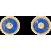 Compass diamond, lapis & gold stud earri - Earrings -