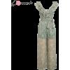 Conmoto Ruffle Backless Chiffon Jumpsuit - Kombinezony - $19.99  ~ 17.17€