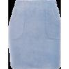 Corduroy Elastic Waist Skirt High Waist Pocket Hip Skirt - Skirts - $19.99